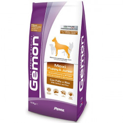 GEMON MAXI PUPPY & JUNIOR CON POLLO 15KG