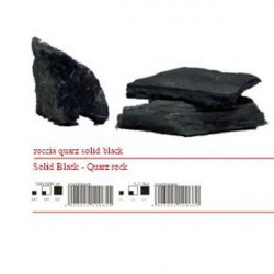 ROCCIA QUARZO SOLID BLACK 1-2 KG