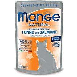 MONGE NATURAL BUSTE TONNO E SALMONE 80 GR