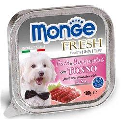 MONGE FRESH PATÉ CON BOCCONCINI TONNO 100 GR