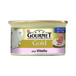 GOURMET GOLD MOUSSE GATTINI VITELLO 85 GR