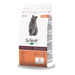 SCHESIR CAT ADULT STERILIZED POLLO 400GR