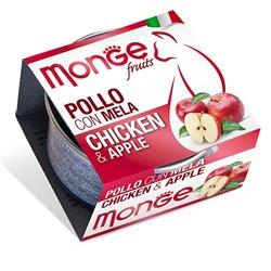 MONGE FRUIT POLLO CON MELA GR 80