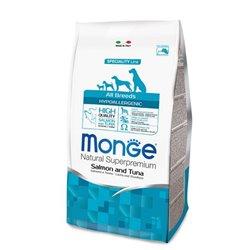 MONGE HYPOALLERGENIC SALMONE E TONNO 2,5 KG