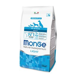 MONGE ALL BREEDS LIGHT SALMONE, RISO 2,5 KG