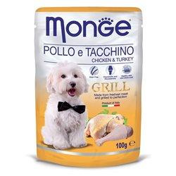 MONGE GRILL BUSTE POLLO E TACCHINO 100GR
