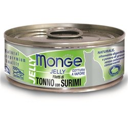 MONGE JELLY FILETTI DI TONNO-SURIMI 80GR