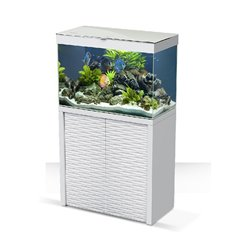ACQUARIO EMOTIONS ONE 80 WHITE CON FILTRO PRATIKO 200 E SUPPORTO