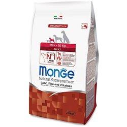 MONGE MINI ADULT AGNELLO E RISO 2,5 KG