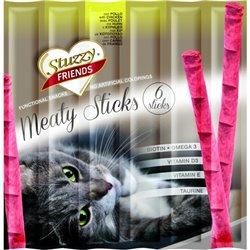STUZZY FRIENDS CAT MEATY STICKS POLLO X 6