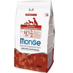 MONGE MINI PUPPY E JUNIOR AGNELLO E RISO 800 GR