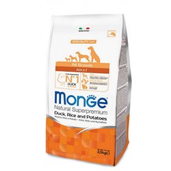 MONGE ALL BREEDS ANATRA RISO PATATE 2,5 KG