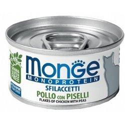 MONGE SFILACCETTI CAT POLLO E PISELLI 80 GR