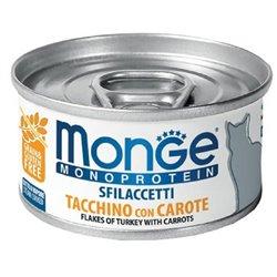 MONGE SFILACCETTI CAT TACCHINO E CAROTE 80 GR