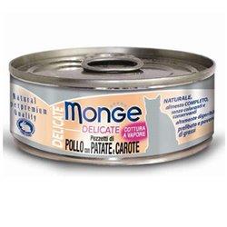 MONGE NATURAL DELICATE POLLO CON PATATE E CAROTE 80 GR