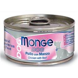 MONGE DOG NATURAL POLLO E MANZO 95 GR