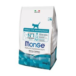 MONGE CAT KITTEN POLLO 400 GR