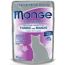 MONGE NATURAL BUSTE TONNO E MANZO GR 80