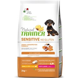 TRAINER NATURAL SENSITIVE PUPPY SALMONE NO GLUTEN SMALL TOY 2 KG