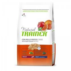 TRAINER NATURAL ADULT MEDIUM POLLO, RISO 3 KG