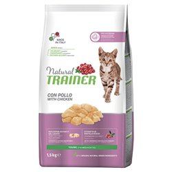 TRAINER NATURAL CAT YOUNG POLLO 1,5 KG