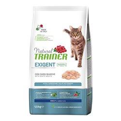 TRAINER NATURAL CAT EXIGENT CARNI BIANCHE 1,5 KG