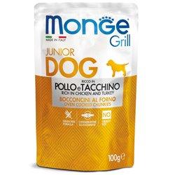 MONGE GRILL BUSTE PUPPY POLLO E TACCHINO 100 GR