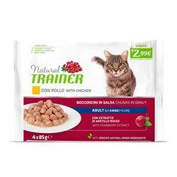 TRAINER NATURAL CAT ADULT CON POLLO FRESCO 4 X 85 GR