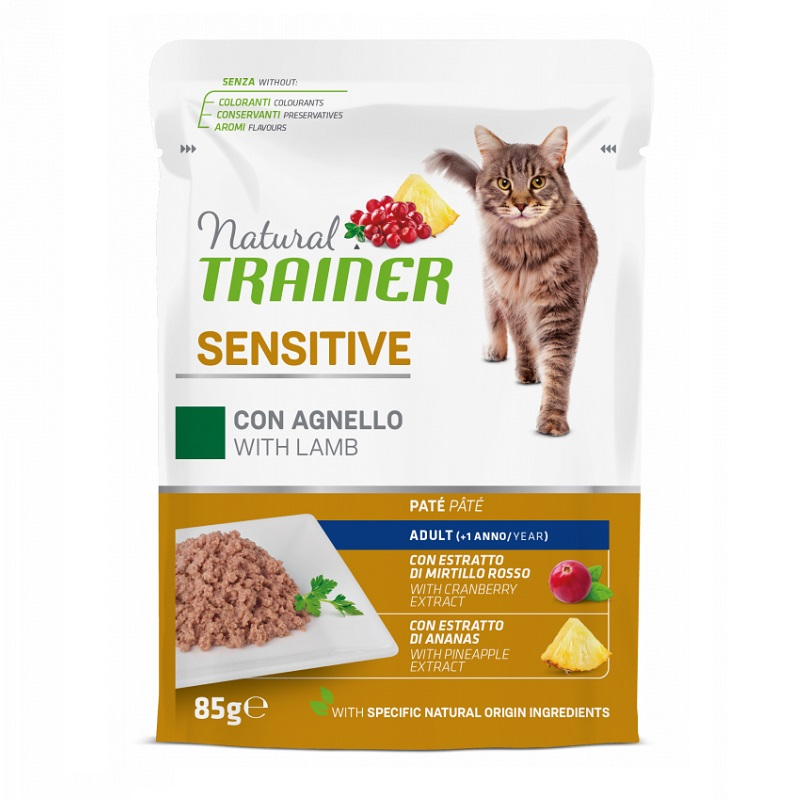 TRAINER NATURAL CAT SENSITIVE AGNELLO GR 85