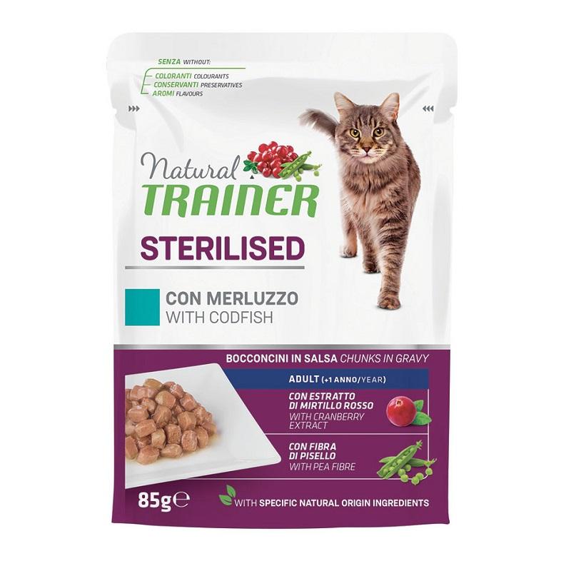 TRAINER NATURAL CAT STERILISED MERLUZZO GR 85