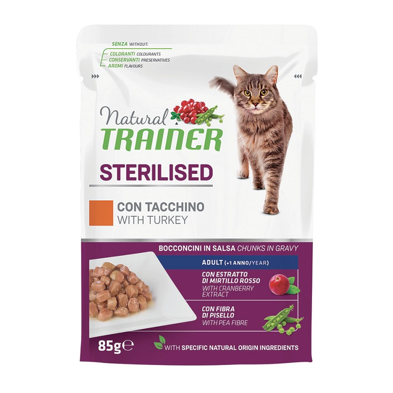 TRAINER NATURAL CAT STERILISED TACCHINO GR 85