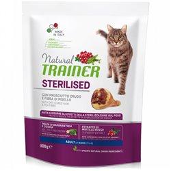 TRAINER NATURAL CAT STERILISED PROSCIUTT CRUDO 300 GR